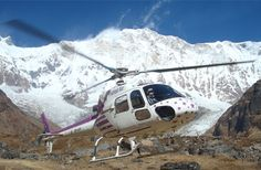 Annapurna Helicopter tour in Nepal is best was to get at Throung phedi and Rescue the people.