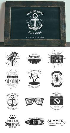 Summer Vintage Badge by DikasStudio on @creativemarket