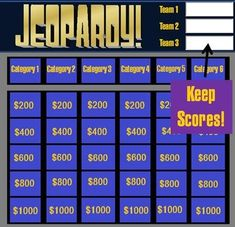 review and teach with these free jeopardy powerpoint templates, Modern powerpoint