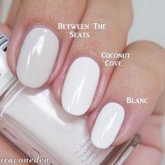 essie Between The Seats vs. Coconut Cove vs. Blanc