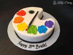 cake ideas for painters Art Birthday Cake, Themed Birthday Cakes, Birthday Treats, Themed Cakes, Artist Birthday Party, Painter Cake, Artist Cake, Painter Artist, Art Party Cakes
