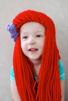 Crocheted Little Mermaid Hat, Ariel Inspired, Halloween, Dress up ...