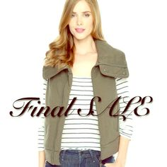 Final sale! Green Splendid Moto Quilt Puffer Vest Adorable army green quilted vest from Splendid. Size L and NWT. Flattering and a must have this season!! Final reduced price, get it now. Splendid Jackets & Coats Vests