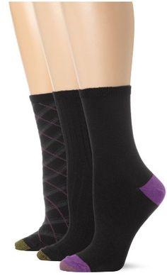 Gold Toe Women's Plaid Fashion Crew 3 Pack Dress Socks $7.00