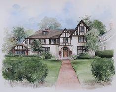 Tudor in Browncroft neighborhood, Rochester, NY