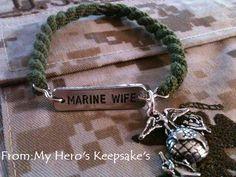 marine wife boot band bracelets. so cute i want one <3