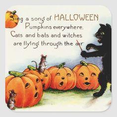 Vintage Halloween Stickers - Trick or Trea
