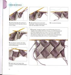 Stricken unbegrenzt: Was ist Entrelac stricken? Wie man Entrelac strickt Knitting Unlimited: What is Entrelac Knitting? How to knit Entrelac Knitting Stiches, Loom Knitting, Knitting Patterns Free, Knit Patterns, Free Knitting, Free Crochet, Knit Crochet, Pull Jacquard, Beautiful Crochet