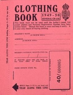 Due to wartime shortages, Britain implemented food rationing in 1940. In June 1941, clothing ration coupons were introduced. Initially each person received 66 coupons per year. By 1945, that was reduced to 36 coupons. 'Make Do and Mend' became the new slogan.