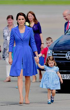 Princess Charlotte arrives at Berlin Tegel Airport during an official visit to Poland and Germany on July 19, 2017 in Berlin, Germany