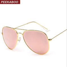 Peekaboo New fashion men polarized sunglasses metal blue pink reflective sun glasses for women brand polarised lentes de sol #Affiliate