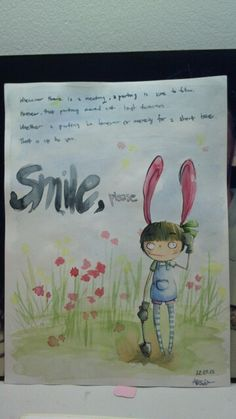 Water Color-Smile, please