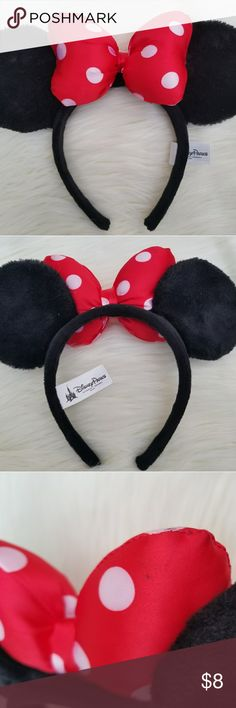 Authentic Disney Original Minnie Mouse Ears Authentic Disney Parks Minnie Mouse Ears. As seen in the pictures, so please review my pictures carefully to form your own opinion about the items condition and wear. Comes from a smoke free & pet free environment. Don't forget to check out my closet for more Disney items up for sale. Bundle & Save on shipping. Feel free to contact me with any questions. I ship within 1-2 business days. All sales are final. Thank you (: Just 2 Left! Disney…