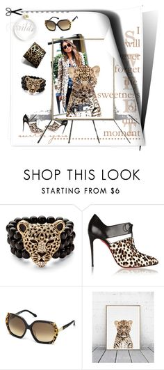 """""""Moment"""" by mytabletcaseplace ❤ liked on Polyvore featuring Palm Beach Jewelry, Christian Louboutin, Roberto Cavalli, gift, leopard and tabletcase"""