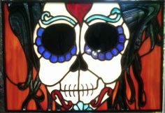 Dia Del Los Muertos Stained Glass Panel - Delphi Stained Glass