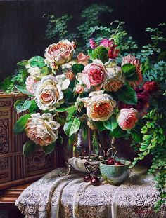 Я люблю рисовать цветы... Художница Ann Morton.