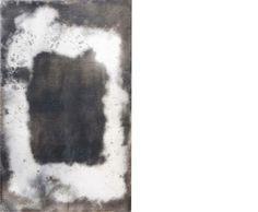 Apparenze 3  2009 Stele cm 36x24  Ceramica- Mix di terre raccolte in toscana e refrattari.  La superficie è lucidata a tratti con agata.  Cottura effettuata a cielo aperto. By Giovanni Maffucci