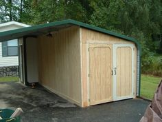 Garages, Garage Door Openers, Work Shops & Sheds, Breezeways and Carports - Enclosing a metal carport. - I've got a metal carport that's wide by long. The height, I haven't Carport Sheds, Carport Garage, Rubbermaid Storage Shed, Enclosed Carport, Metal Carports, Carport Designs, Garage Addition, Built In Storage, Carport With Storage