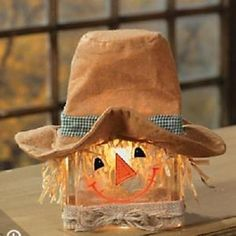 Scarecrow Glass Block
