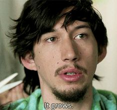 """mssedated: """"""""Adam Sackler in every episode - Season episode 3 """" ↳ """"I don't care about hair. It grows. It shrinks. You can't get attached."""" """" An excerpt from Adam Sackler's free verse poetry book. Adam Driver Movies, Girls Season 3, Adam Sackler, Girls Hbo, Awkward Pictures, Kylo Ren Adam Driver, Drive Me Crazy, Comedy Series, Me Tv"""