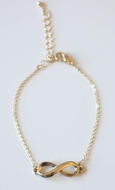 #gold #infinity #friendship #bracelet on www.shoppublik.com