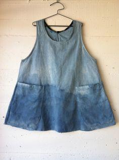 dress 27 materials: indigo dyed cotton pattern: own