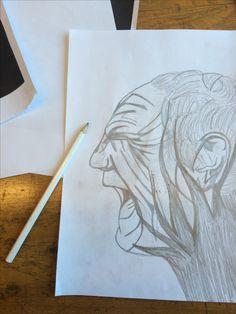 Dit is mijn eerste ontwerp. Ik heb de foto overgetekend en de lijnen dikker gemaakt ook heb ik een aantal lijnen toegevoegd.