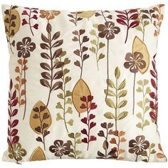 Floral Leaves Pillow http://www.pier1.com/Floral-Leaves-Pillow/2272845,default,pd.html?cgid=pillows-cushions