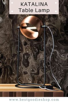 KATALINA Table Lamp - Specifications: Item Type: Table Lighting Is Bulbs Included: No Body Material: iron Number of light sources: 1 Voltage: 90-260V Material: Metal Technics: Painted Power Source: AC Base Type: Wedge Lighting Area: 10-15square meters Switch Type: Knob switch Wattage: 11-15W Light Source: LED Bulbs Is Dimmable: No Shade Direction: Up & Down Shade Type: Iron Certification: UL, CE Library Cafe, Desk Lamp, Table Lamp, Kitchen Lamps, Light Table, Living Room Bedroom, Cool Lighting, Home Furnishings, Bulb