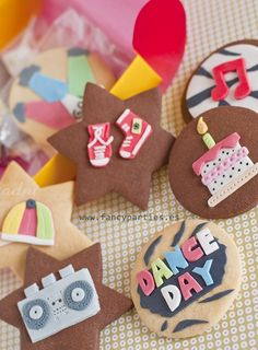 Dance and Music Cookies by www.fancyparties.es