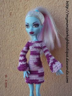 Vestido para Monster High v309 de My Monster High boutique por DaWanda.com