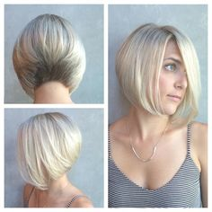 Baby blonde and a fresh new cut! #hairbykatiej