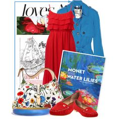 Monet Water Lillies,   #red #beach #fashion #outfits #lebunnybleu