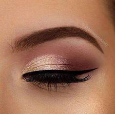 Wedding makeup beach brown eyes make up 51 Trendy ideas Braune Augen des Hoch Prom Eye Makeup, Gold Eye Makeup, Natural Eye Makeup, Pink Makeup, Makeup Eyeshadow, Green Makeup, Bridal Makeup, Gold Eyeshadow, Burgundy Makeup