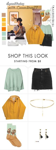 """""""Soending the Day with Conan Gray"""" by xlachix ❤ liked on Polyvore featuring Topshop, HOT SOX and NIKE"""