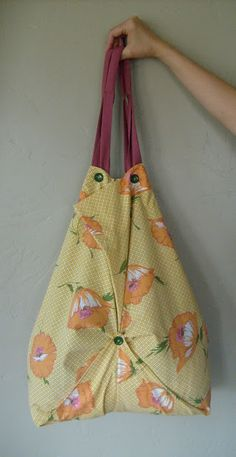 Tote bag out of a pillowcase. I made two of these for teacher gifts!