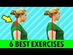 get rid of neck fat Back Fat Workout, Gym Workout Tips, Fitness Workout For Women, At Home Workouts, Neck And Shoulder Exercises, Shoulder Workout, Neck Hump, Upper Back Exercises, Video Sport