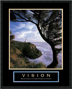 "0-028405>23x29"" Vision Lighthouse Framed Print"