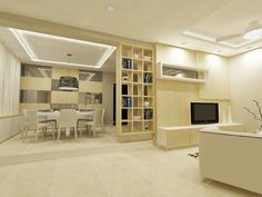 Living Room - Light colors make a home appear to be more spacious. Perfect for new HDBs ;)