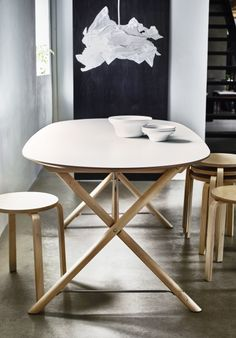 Give your dining room a spring time refresh with one of our brand new table combinations. Featuring handpicked designs from our most popular style groups, they're a sure-fire way to make a stylish statement in your home. DALSHULT / SLÄHULT table from IKEA with a melamine table top that is moisture resistant, stain resistant and easy to keep clean.