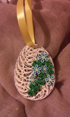 Easter quilled egg Quilling Jewelry, Quilling Paper Craft, Quilling Patterns, Quilling Cards, Quilling Designs, Paper Quilling, Quilling Ideas, Egg Crafts, Easter Crafts