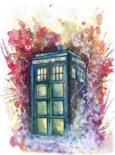 Doctor Who Tardis by Jessi Adrignola...this would make a fantastic watercolor tattoo!