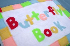 Sunshine, Lollipops, and Rainbows: Free Butterfly Quiet Book Template