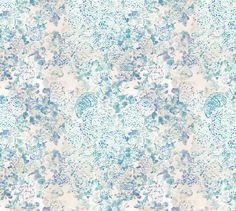Sue Stemp, Textile, Blushing Bushes, Blue Mix