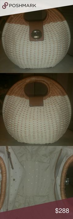 Kate Spade Sherri Wicker and Rope Circle bag Beautiful bag! Excellent condition!  No rips or stains at all!  Smoke free home! Very Rare find! kate spade Bags Satchels