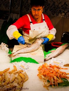 Fish Vendor at La Boqueria