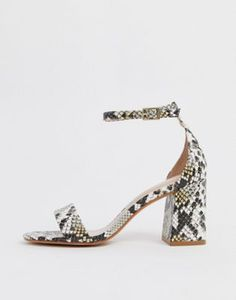 ALDO Eteisa block heeled sandals in snake