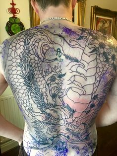 In progress cover up on the back by Nathan   #devilsown #devilsowntattoos #leicester #leicesterink #leicestertattoo #tattoo #jap #Japanese #Japanesetattoo #neotraditionaljapaneseatattoo #coverup #coveruptattoo #backpiece #backtattoo