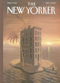 """The New Yorker - Monday, September 3, 2001 - Issue # 3949 - Vol. 77 - N° 25 - Cover """"Tenement Island"""" by Eric Drooker"""
