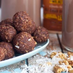 Delicious Dark Chocolate & Walnut energy bites. Perfect for afternoon {or anytime} healthy snacking.